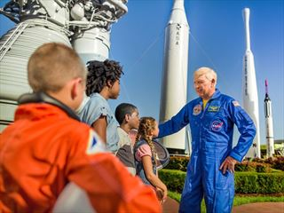 Meeting astronauts at Kennedy Space Centre