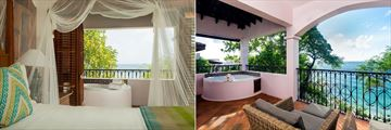 Ocean View Villa Suite with Jacuzzin at Cap Maison