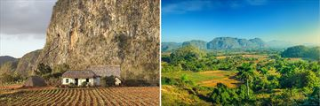 Cuba Family Holiday; cottage and hills of Vinales Valley