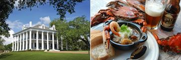 Dunleith Plantation Home, Natchez and Traditional Gumbo
