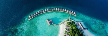 Grand Park Kodhipparu, Aerial View of Water Villas