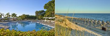 The pool and beach at Hotel Quinta Do Lago