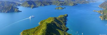 Aerial view of Marlborough Sounds