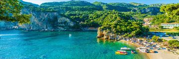A secluded bay in Paleokastritsa, Corfu