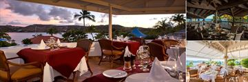 Dining at St James' Club and Villas