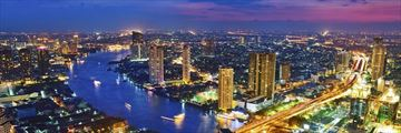 Aerial View Bangkok City