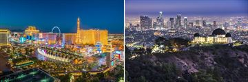 Skylines of Las Vegas & Los Angeles