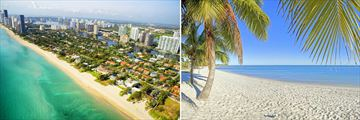 Miami South Beach & Palm-Lined Beach in Key West, Florida