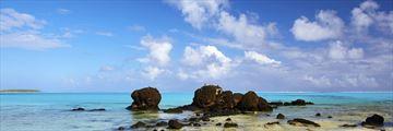 Aitutaki lagoon in the Cook Islands