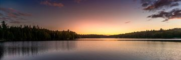 Sunset over Algonquin Provincial Park