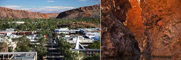 Alice Springs (left), and Northern Territory landscapes (right)