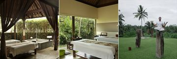 Treatment Villa, Treatment Room and Laughter Yoga at the Spa in Alila Ubud