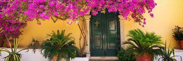 Beautiful streets in Corfu