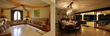 Arabic Room in the Boutique Hotel and Executive Villa Dining Room at Almanara Luxury Resort