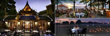 Amari Vogue Krabi, Lotus Restaurant, Bellini Italian Restaurant and Romantic Dining on the Beach