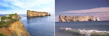 Amazing views of the iconic Perce Rock, Quebec
