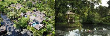 Anantara Mai Khao Phuket Villas, Aerial Overview and Lagoon View with Sala