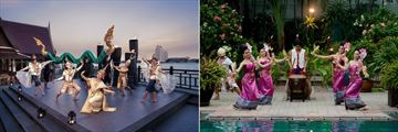 Anantara Riverside Bangkok Resort, Riverside Terrace Cultural Show and Torch Lighting Ceremony