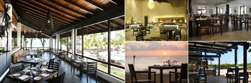 AVANI Kalutara, (clockwise from left): Mangrove Restaurant, Mangrove Restaurant Interior, Moya Restaurant, Karadiya Bar and Speciality Dining
