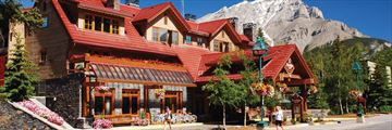 Banff Ptarmigan Inn, Exterior in Summer