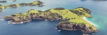 An aerial view of the Bay of Islands