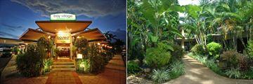 Bayleaf Restaurant and Balinese Gardens at Bay Village Tropical Retreat