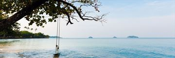 A secluded beach in Koh Chang