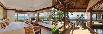 Belmond Napasai, One Bedroom Beachfront Villa and Sea View Villa Balcony