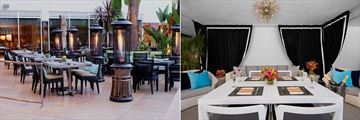 Beverly Hilton, Circa Patio and Private Cabana