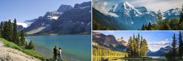 Bow Lake, Mount Robson & Spirit Island on Maligne Lake