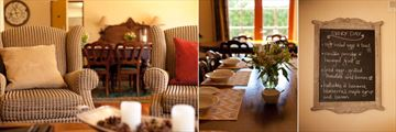 Browns Boutique Hotel, Lounge, Breakfast Table Setting and Menu