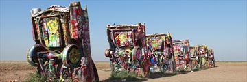 Cadillac Ranch Amarillo on Route 66, Texas