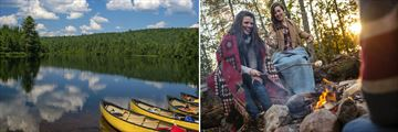 Canoe Boats & Sunset Campfires at Algonquin