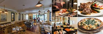 Cape House Langsuan Serviced Apartments, No. 43 Italian Bistro, Carvery, Lamb Cutlets, Pizza and Buffet