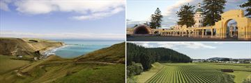 Cape Kidnappers Landscapes, Art Deco Architecture in Napier & Hawkes Bay Vineyards