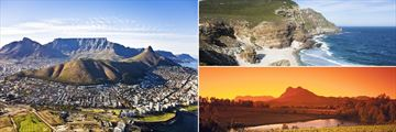 Cape Town aerial view, Cape Point Headland & The Winelands