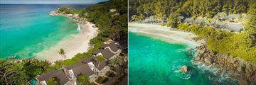 Carana Beach Hotel, Aerial View of Chalets and Beach