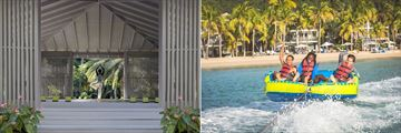 Yoga pavilion and water sports at Carlisle Bay