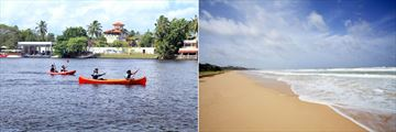 Centara Ceysands Resort & Spa, Kayaking on Bentota River and Beach