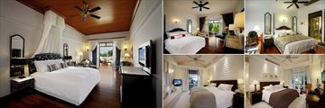 Centara Grand Beach Resort & Villas Hua Hin, (clockwise from left): Premium Deluxe Club, Deluxe Garden Wing, Duplex Suite, Premium Deluxe Pool Villa and Deluxe Spa Villa