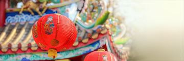Chinese lanterns in Hong Kong