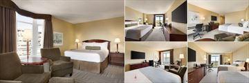 Coast Victoria Hotel & Marina by APA, (clockwise from left): Comfort Queen Room, Comfort King Room, Superior King Room, Superior Twin and Superior Queen Room