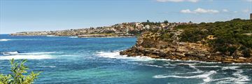 The coastline of Bondi Beach, Sydney