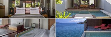 Top: Island Villas, Bottom: Water Villas at Coco Bodu Hithi