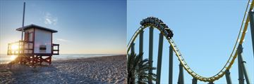 Cocoa Beach and Rollercoaster, Orlando