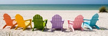 Coloured beach chairs in Florida