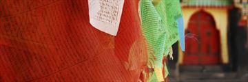 Prayer flags at Sakya