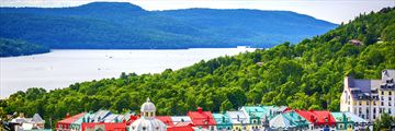 Colourful rooftops in Mont Tremblant