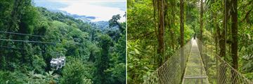 Sky trams and suspension bridges in Monteverde, Costa Rica