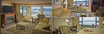 Crest Hotel Prince Rupert, Fireside Suite, Executive Suite and Treat Suite